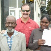 Led this 74 year old man to Jesus on a busy street corner in Namibia