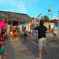 Volleyball in the Amazon with the Peruvians