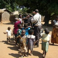 Handing out tracts in villages in their own language