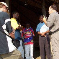 These people accepted Christ that day in Mozambique.